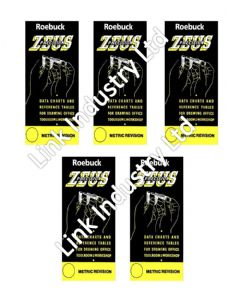 5 x Deal - Zeus Precision Data Charts & Reference Tables - Metric Revision